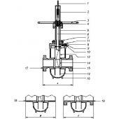 Комплект сборочного узла ручного дублера шарового крана