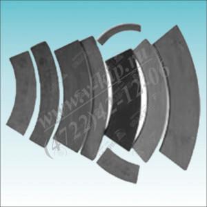 Накладки секторного типа УВ 3132-00-009/801, УВ 3135-00-009/801А