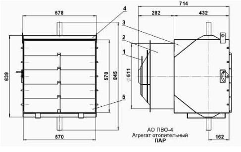 Схема вентилятора АО-ПВО.4