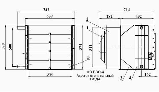 Габаритные размеры АО-ВВО.4