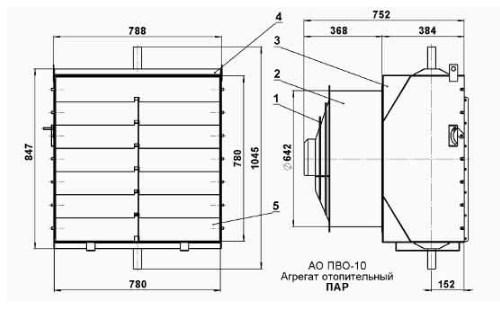 Схема Тепловентилятора АО-ПВО.10