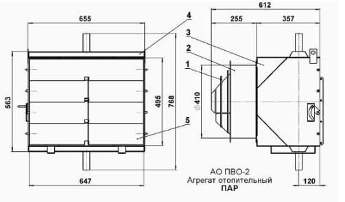 Схема Агрегата АО-ПВО.2