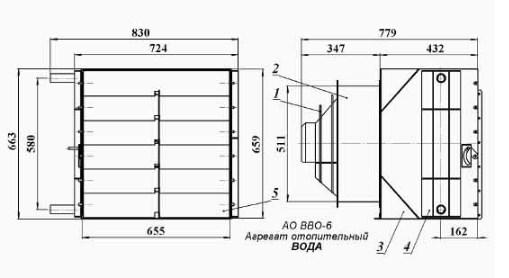 Схема тепловентилятора АО ВВО,6