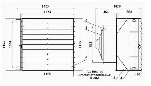 Схема тепловентилятора АО ВВО.220