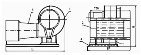 Схема агрегата отопительного Ао ЕВР 1.2