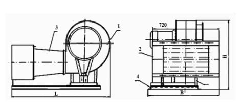 Схема агрегата отопительного АО ЕВР 0,8