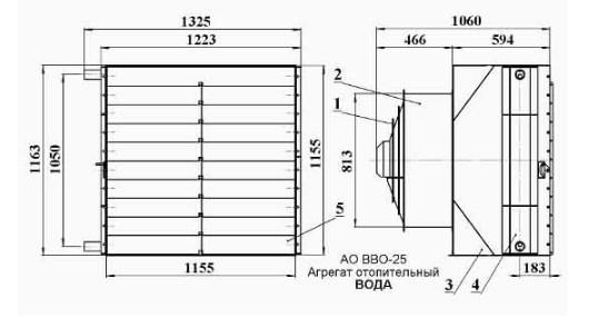 Схема Агрегата АО-ВВО.25