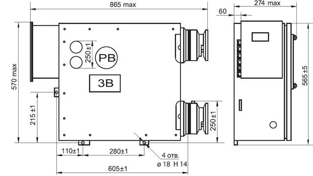 Схема Выключателя ВРВ-150М2