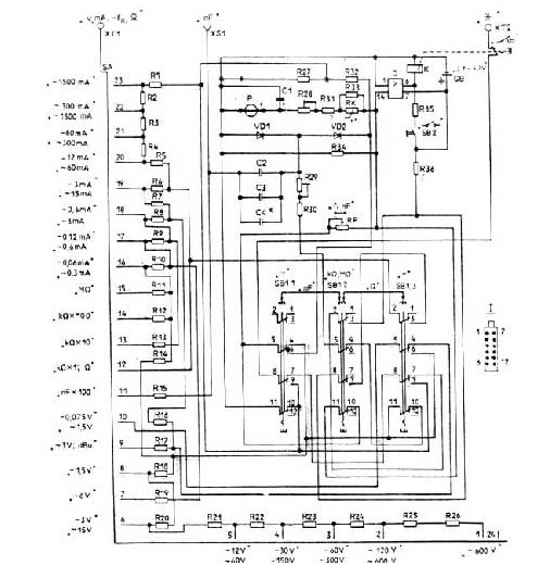 Схема принципиальная прибора Ц4353