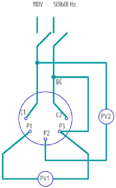 Электрическая схема подключения сельсина к сети при установке нуля