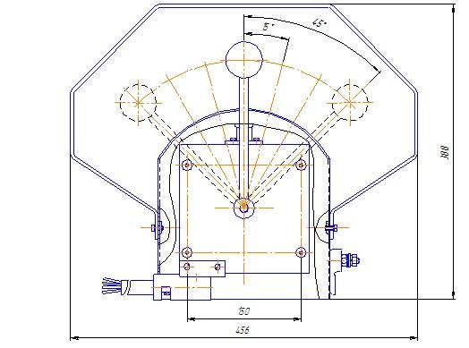Схема габаритных размеров Командоаппарата КАГВ-2