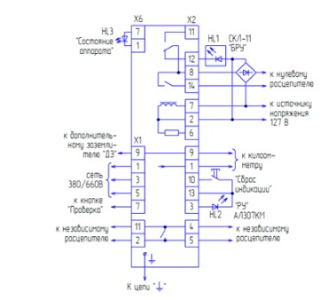 Схема внешних соединений АЗУР.1МК