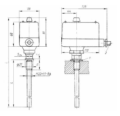 Схема габаритных размеров ТУДЭ-6М1