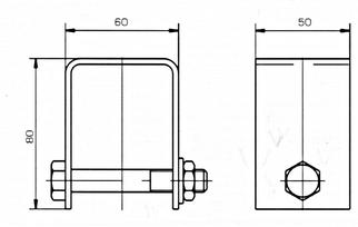 Схема габаритных размеров Анкера УСЭК-64У1