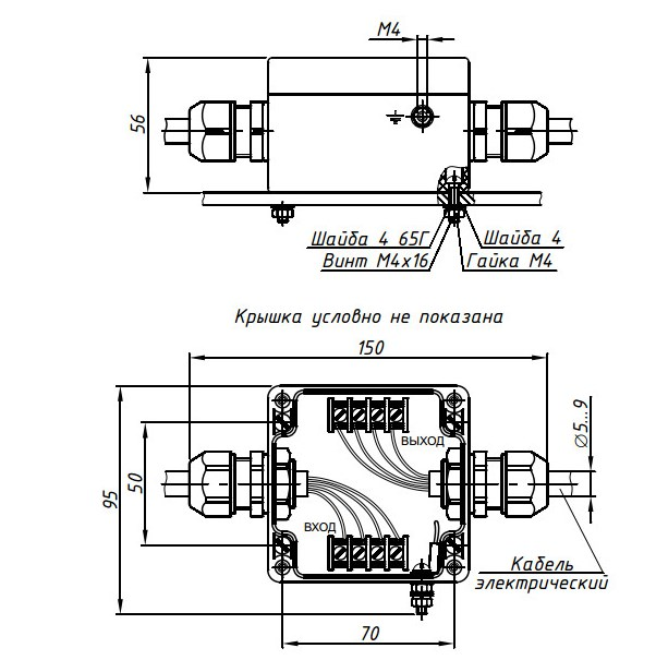 Схема Блока защиты МТМ-102