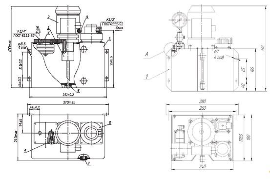 Схема Смазочной станции МС48-14М