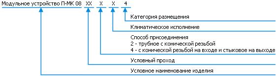 Классификация - П-МК08 входной клапан
