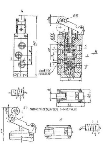 Схема габаритных размеров П-Р4Ф-2.200-М1