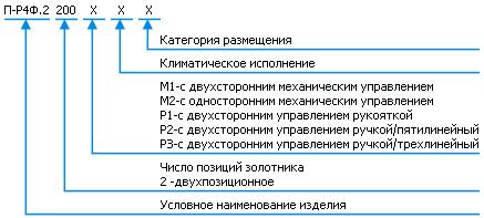 Условное обозначение П-Р4Ф.2
