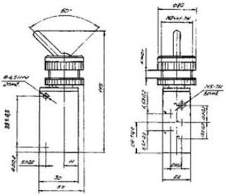 Схема габаритных размеров П-Р515Ф