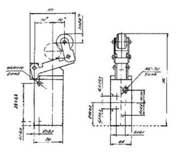 Схема габаритных размеров П-Р515М13