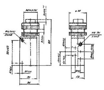 Схема габаритных размеров П-Р515М14