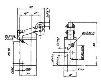 Схема габаритных размеров П-Р515М12