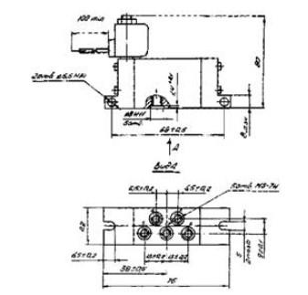 Схема габаритных размеров П-Р515Э1