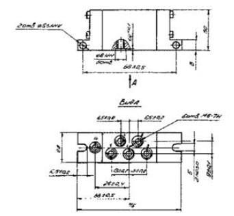 Схема габаритных размеров П-Р515П1