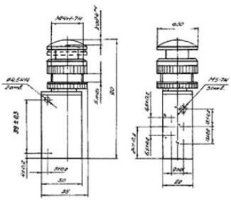 Схема габаритных размеров П-Р515М15