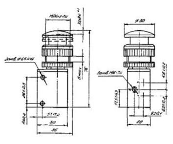 Схема габаритных размеров П-РОЗР15