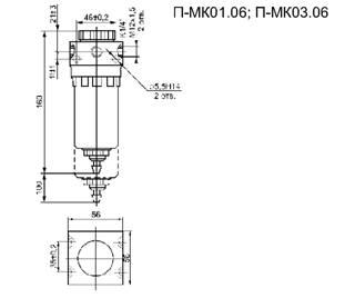 Фильтр П-МК03.01-06 габаритная схема