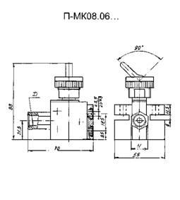 Габаритная схема - П-МК08.06 входной клапан