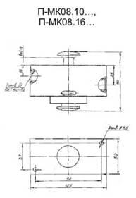 П-МК08.10, П-МК08.16 входной клапан - габаритная схема