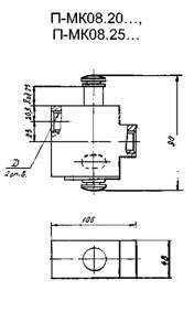 П-МК08.20, П-МК08.25 входной клапан габаритная схема