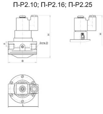 Пневмораспределитель двухлинейный П-Р2.10, ПР2.16