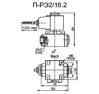 Габаритная схема - П-РЭ2/16.2, П-РЭ2/16.А.2