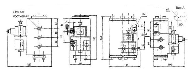 Схема габаритных размеров РЭП1-1.25