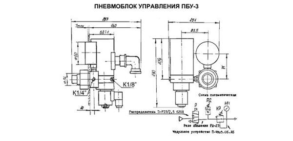 Пневмоблок управления ПБУ-3
