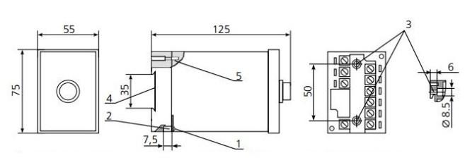 Схема Реле времени ВЛ-54М