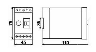 Схема реле времени ВЛ-73М...ВЛ-79М
