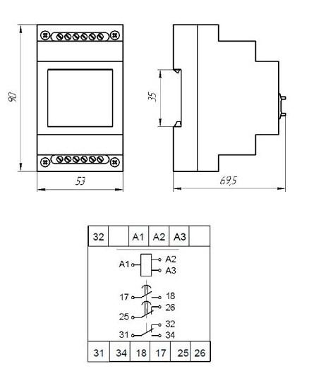 Схема габаритных размеров ВЛ-173