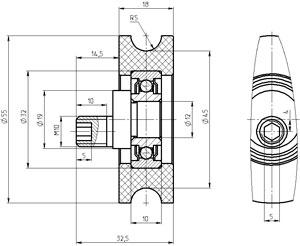 Рис.1. Габаритный чертеж блока ГТИМ 303663 003