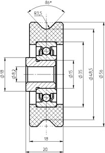 Рис.1. Габаритный чертеж блока ГТИМ 303664 008
