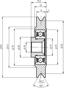 Рис.1. Габаритный чертеж блока ГТИМ 303664 009