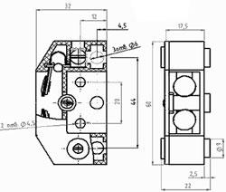 Рис.1. Габаритный чертеж выключателя ВБ-5-2