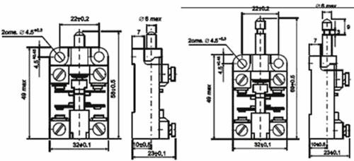 Рис.1. Габаритный чертеж выключателя