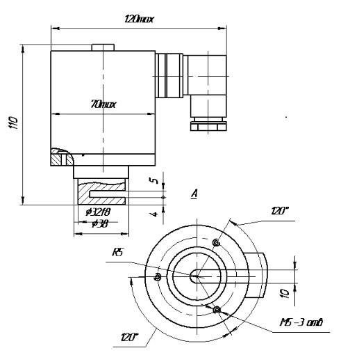 Схема габаритных размеров ЭМВ-11-31