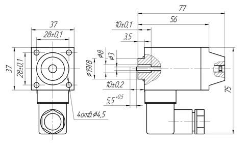 Схема габаритных размеров ЭМГ-14