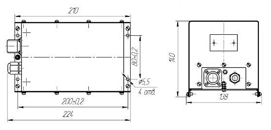 Схема габаритных размеров ЭМИК-40